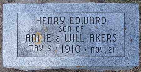 AKERS, HENRY - Buffalo County, Nebraska | HENRY AKERS - Nebraska Gravestone Photos