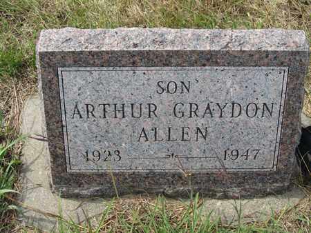 ALLEN, ARTHUR - Buffalo County, Nebraska | ARTHUR ALLEN - Nebraska Gravestone Photos