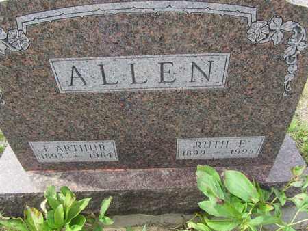 ALLEN, J. ARTHUR - Buffalo County, Nebraska | J. ARTHUR ALLEN - Nebraska Gravestone Photos
