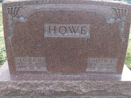 HOWE, LAURA D - Buffalo County, Nebraska   LAURA D HOWE - Nebraska Gravestone Photos