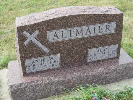 ALTMAIER, ADAM - Buffalo County, Nebraska | ADAM ALTMAIER - Nebraska Gravestone Photos