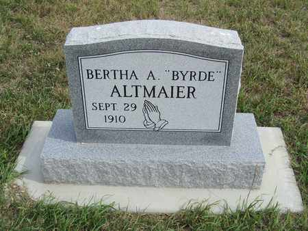 ALTMAIER, BERTHA - Buffalo County, Nebraska | BERTHA ALTMAIER - Nebraska Gravestone Photos