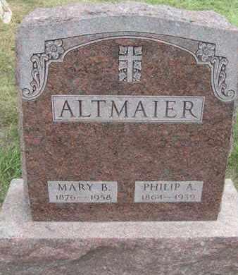 ALTMAIER, MARY - Buffalo County, Nebraska | MARY ALTMAIER - Nebraska Gravestone Photos