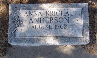 ANDERSON, ANNA - Buffalo County, Nebraska | ANNA ANDERSON - Nebraska Gravestone Photos