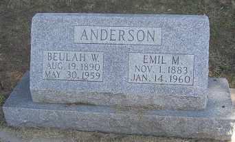 ANDERSON, EMIL - Buffalo County, Nebraska | EMIL ANDERSON - Nebraska Gravestone Photos