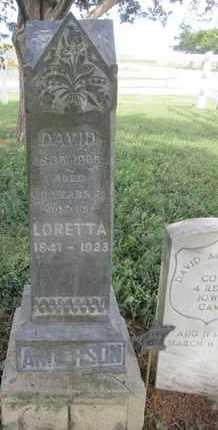 ANDERSON, LORETTA - Buffalo County, Nebraska   LORETTA ANDERSON - Nebraska Gravestone Photos