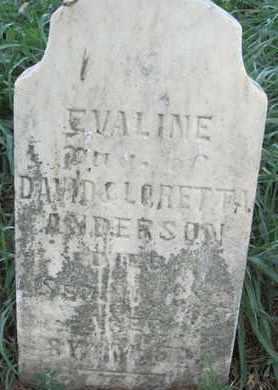 ANDERSON, EVALINE - Buffalo County, Nebraska | EVALINE ANDERSON - Nebraska Gravestone Photos