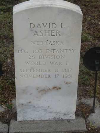 ASHER, DAVID - Buffalo County, Nebraska   DAVID ASHER - Nebraska Gravestone Photos