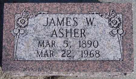 ASHER, JAMES - Buffalo County, Nebraska | JAMES ASHER - Nebraska Gravestone Photos