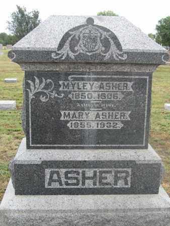 ASHER, MARY - Buffalo County, Nebraska | MARY ASHER - Nebraska Gravestone Photos