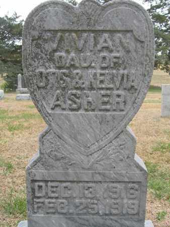 ASHER, VIVIAN - Buffalo County, Nebraska | VIVIAN ASHER - Nebraska Gravestone Photos