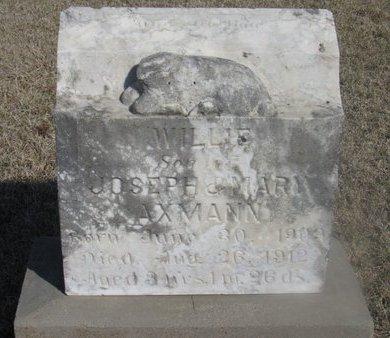 AXMANN, WILLIE - Buffalo County, Nebraska | WILLIE AXMANN - Nebraska Gravestone Photos