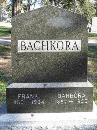 BACHKORA, FRANK - Buffalo County, Nebraska   FRANK BACHKORA - Nebraska Gravestone Photos
