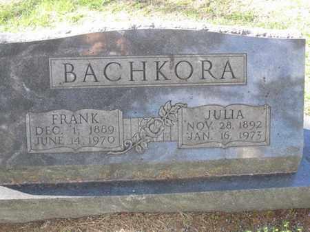 BACHKORA, JULIA - Buffalo County, Nebraska | JULIA BACHKORA - Nebraska Gravestone Photos