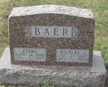 BAER, ETHEL - Buffalo County, Nebraska   ETHEL BAER - Nebraska Gravestone Photos