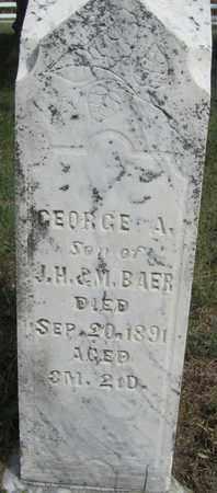 BAER, GEORGE - Buffalo County, Nebraska | GEORGE BAER - Nebraska Gravestone Photos