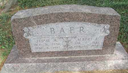 BAER, ALBERT - Buffalo County, Nebraska | ALBERT BAER - Nebraska Gravestone Photos