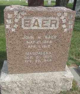 BAER, MAGDALENA - Buffalo County, Nebraska   MAGDALENA BAER - Nebraska Gravestone Photos