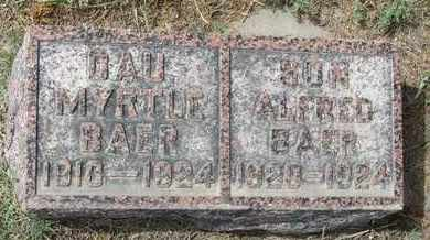 BAER, MYRTLE - Buffalo County, Nebraska | MYRTLE BAER - Nebraska Gravestone Photos