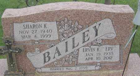BAILEY, ERVIN - Buffalo County, Nebraska | ERVIN BAILEY - Nebraska Gravestone Photos
