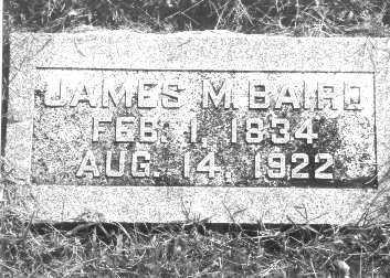 BAIRD, JAMES M. - Buffalo County, Nebraska   JAMES M. BAIRD - Nebraska Gravestone Photos
