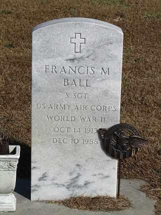 BALL, FRANCIS M. - Buffalo County, Nebraska | FRANCIS M. BALL - Nebraska Gravestone Photos