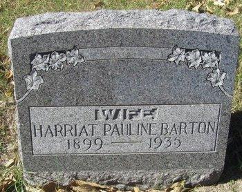 BARTON, HARRIAT PAULINE - Buffalo County, Nebraska | HARRIAT PAULINE BARTON - Nebraska Gravestone Photos