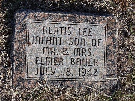 BAUER, BERTIS LEE - Buffalo County, Nebraska | BERTIS LEE BAUER - Nebraska Gravestone Photos