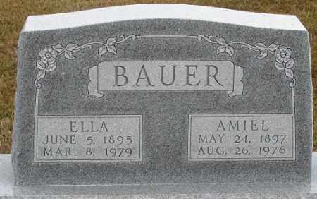 BAUER, AMIEL - Buffalo County, Nebraska | AMIEL BAUER - Nebraska Gravestone Photos
