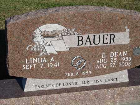 BAUER, E. DEAN - Buffalo County, Nebraska | E. DEAN BAUER - Nebraska Gravestone Photos