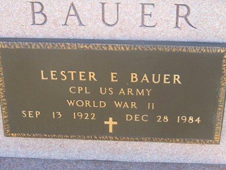 BAUER, LESTER E. - Buffalo County, Nebraska   LESTER E. BAUER - Nebraska Gravestone Photos