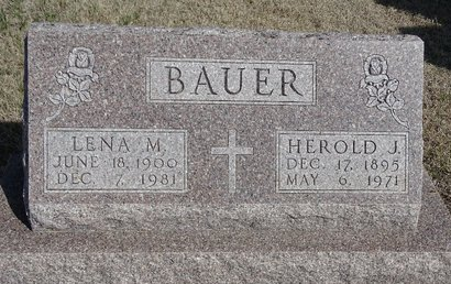 BAUER, LENA M. - Buffalo County, Nebraska | LENA M. BAUER - Nebraska Gravestone Photos