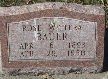BAUER, ROSE - Buffalo County, Nebraska | ROSE BAUER - Nebraska Gravestone Photos