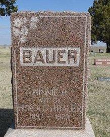 BAUER, WINNIE B. - Buffalo County, Nebraska | WINNIE B. BAUER - Nebraska Gravestone Photos
