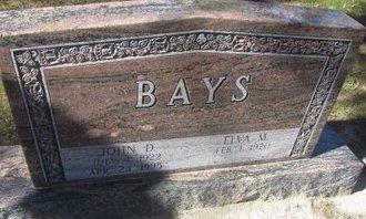 BAYS, ELVA M. - Buffalo County, Nebraska | ELVA M. BAYS - Nebraska Gravestone Photos