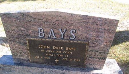 BAYS, JOHN DALE - Buffalo County, Nebraska | JOHN DALE BAYS - Nebraska Gravestone Photos