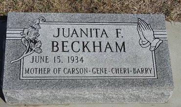 BECKHAM, JUANITA F. - Buffalo County, Nebraska   JUANITA F. BECKHAM - Nebraska Gravestone Photos