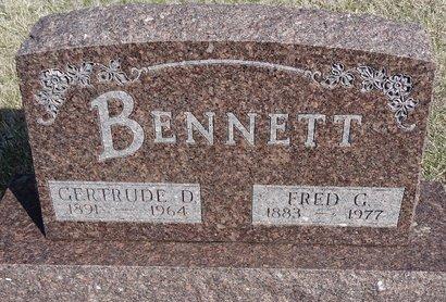 BENNETT, GERTRUDE D. - Buffalo County, Nebraska | GERTRUDE D. BENNETT - Nebraska Gravestone Photos