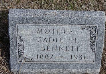 BENNETT, SADIE H. - Buffalo County, Nebraska   SADIE H. BENNETT - Nebraska Gravestone Photos