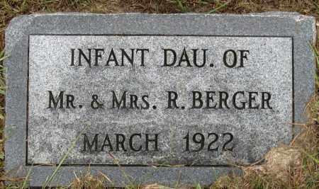 BERGER, INFANT GIRL - Buffalo County, Nebraska | INFANT GIRL BERGER - Nebraska Gravestone Photos
