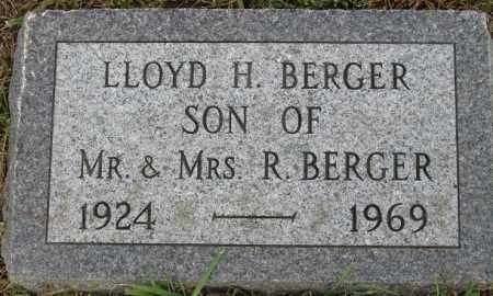 BERGER, LLOYD H. - Buffalo County, Nebraska | LLOYD H. BERGER - Nebraska Gravestone Photos