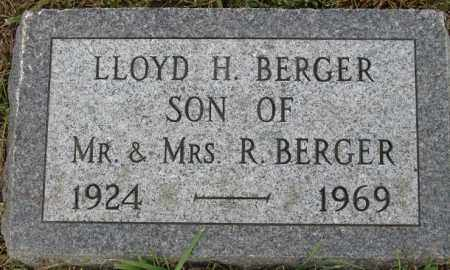 BERGER, LLOYD H. - Buffalo County, Nebraska | LLOYD H. BERGER - Nebraska Gravestone Photos