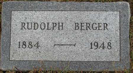 BERGER, RUDOLPH - Buffalo County, Nebraska | RUDOLPH BERGER - Nebraska Gravestone Photos