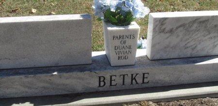 BETKE, DUANE - Buffalo County, Nebraska   DUANE BETKE - Nebraska Gravestone Photos