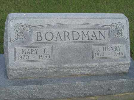 BOARDMAN, J. HENRY - Buffalo County, Nebraska | J. HENRY BOARDMAN - Nebraska Gravestone Photos