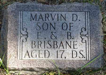 BRISBANE, MARVIN D. - Buffalo County, Nebraska | MARVIN D. BRISBANE - Nebraska Gravestone Photos
