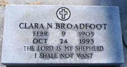 BROADFOOT, CLARA NEVA - Buffalo County, Nebraska | CLARA NEVA BROADFOOT - Nebraska Gravestone Photos
