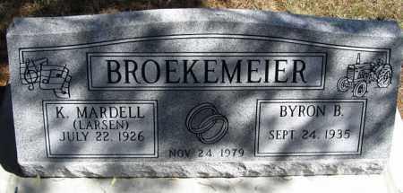 BROEKEMEIER, BYRON B. - Buffalo County, Nebraska | BYRON B. BROEKEMEIER - Nebraska Gravestone Photos