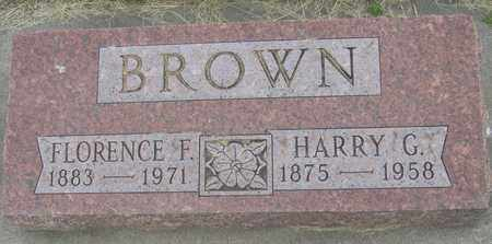 BROWN, FLORENCE - Buffalo County, Nebraska | FLORENCE BROWN - Nebraska Gravestone Photos