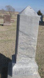 BROWN, NANCY J. - Buffalo County, Nebraska | NANCY J. BROWN - Nebraska Gravestone Photos
